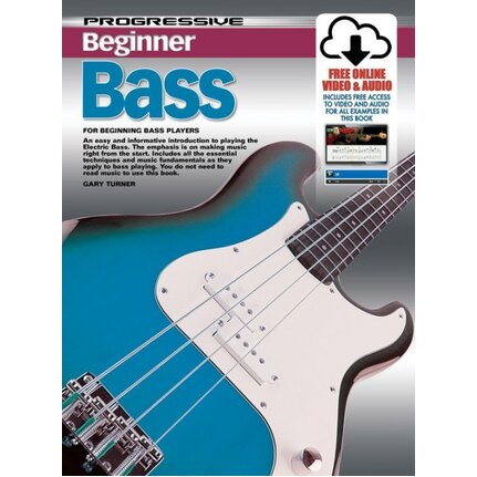 Progressive Beginner Bass  Book/Online Video & Audio