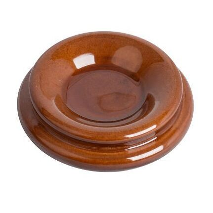 AMS KX98 Wooden Piano Castor Cup Polished Walnut (Cup Width 4cm)