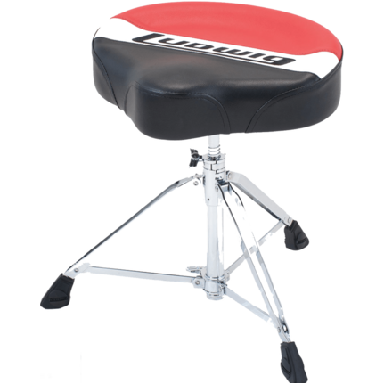 Ludwig L6Lap50Th  Atlas Pro Saddle Throne Red/Black Drum Accessory