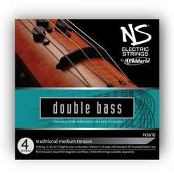 D'Addario NS Electric Traditional Bass String Set, 3/4 Scale, Medium Tension