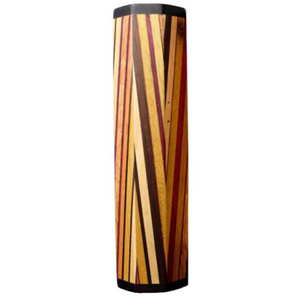 A Tempo Percussion Exotic Wooden Shaker in Kaleidescope Pattern
