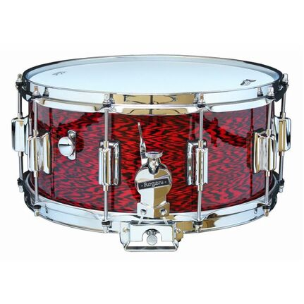 Rogers Dyna-Sonic Beavertail Series Snare Drum In Red Onyx - 14 X 6.5""