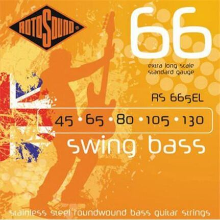 Rotosound RS665EL Swing Bass 66 Extra Long 45-130 5-String Set