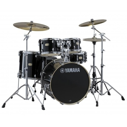 Yamaha Stage Custom Birch Fusion Drum Kit Raven Black w/Hardware/Cymbals