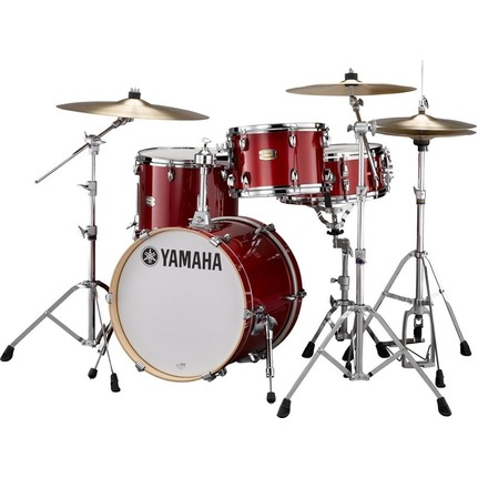 Yamaha Stage Custom Bop 4-Piece Drum Kit Cranberry Red w/HW780 Hardware