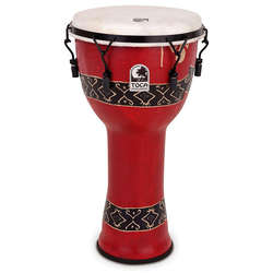 "Toca 9"" Mechanically Tuned Freestyle Djembe Bali Red Print SFDJM9RP"