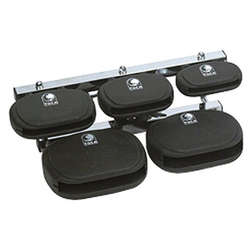 Toca 5Pc Synthetic Clave Block Set With Mount TCBSET