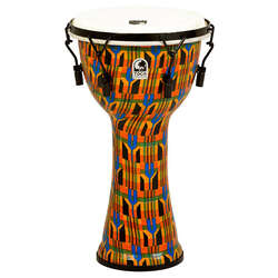 Toca 10-Inch Freestyle 2 Mechanically Tuned Kente Cloth Djembe