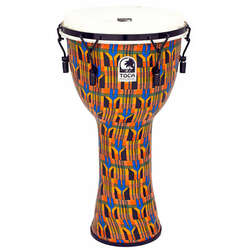 Toca 12-Inch Freestyle 2 Mechanically Tuned Kente Cloth Djembe