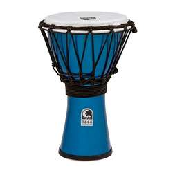 "Toca Freestyle Colorsound 7"" Djembe In Metallic Blue TFCDJ7MB"