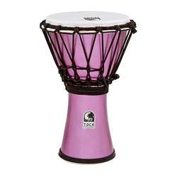 "Toca Freestyle Colorsound 7"" Djembe In Metallic Violet TFCDJ7MV"