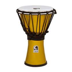 "Toca Freestyle Colorsound 7"" Djembe In Metallic Yellow TFCDJ7MY"