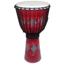 "Toca 12"" Wood Djembe Carved Blossom Pattern TKSDJLB"
