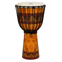 "Toca Origins Series Wooden Djembe 10"" Synthetic Head in Tribal"