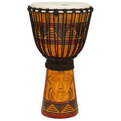 "Toca Origins Series Wooden Djembe 12"" Synthetic Head in Tribal Design"