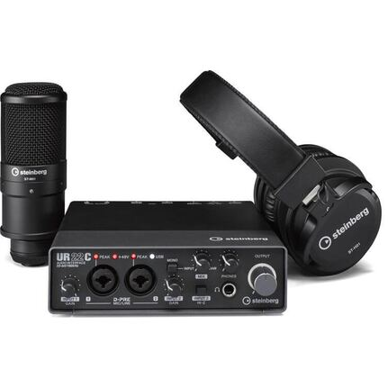 Steinberg UR22C Recording Pack (Audio Interface, Mic, Heaphones)