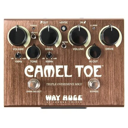 Dunlop WHE209 Way Huge Camel Toe Triple Overdrive MKII Fx Pedal