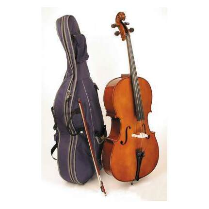 Stentor - Student 1. 1/2 Size Cello Outfit With Case & Bow